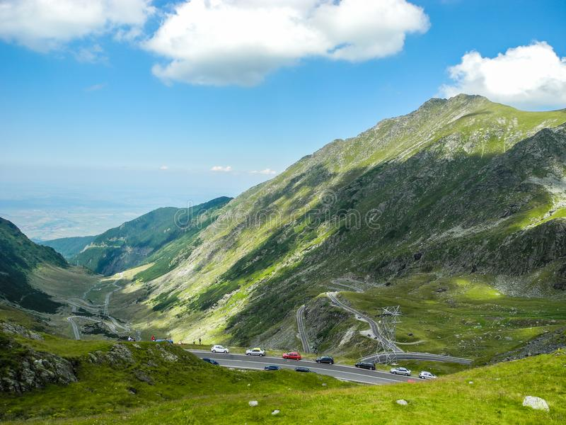 The Transfagarasan mountain road royalty free stock photography