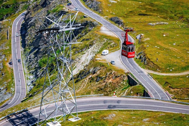 Transfagarasan mountain road in Romania. Spectacular road who climbs to 2,034 metres. Fagaras Mountains, Romania - JULY 21, 2014: Transfagarasan mountain road in royalty free stock images