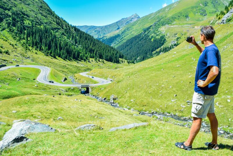 The Transfagarasan mountain road. stock images