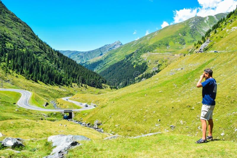 The Transfagarasan mountain road. stock photos