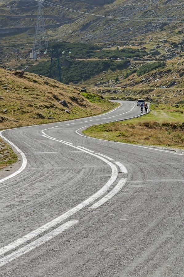 Transfagarasan mountain winding road in Carpathian mountains. High alpine road from Romanian Carpathians- Transfagarasan stock photos