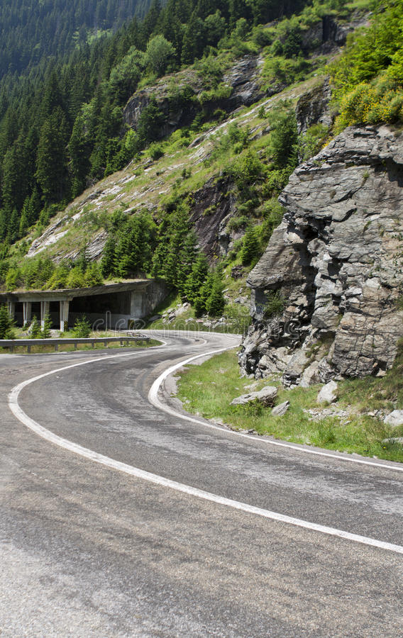 Transfagarasan Road. Photo taken in Romania Fagaras mountains royalty free stock photos