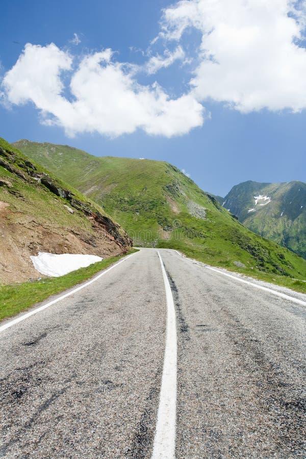 Transfagarasan road in Romania. Landscape in Fagaras mountains in Romania, with Transfagarasan road royalty free stock image