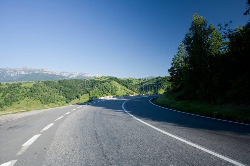 Transfagarasan road in Romania. Landscape in Fagaras mountains in Romania, with Transfagarasan road stock photo