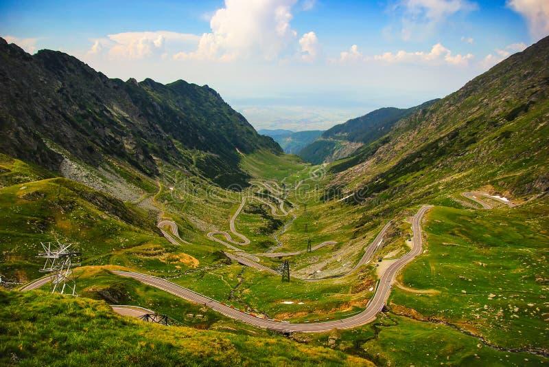 Transfagarasan road, Romania. Panoramic view of Transfagarasan road in Romania stock photo