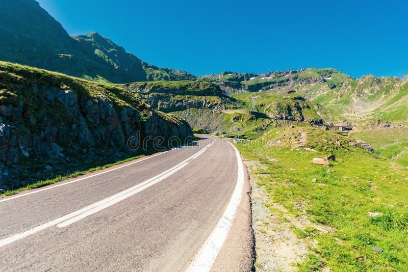 Transfagarasan road though mountains stock images