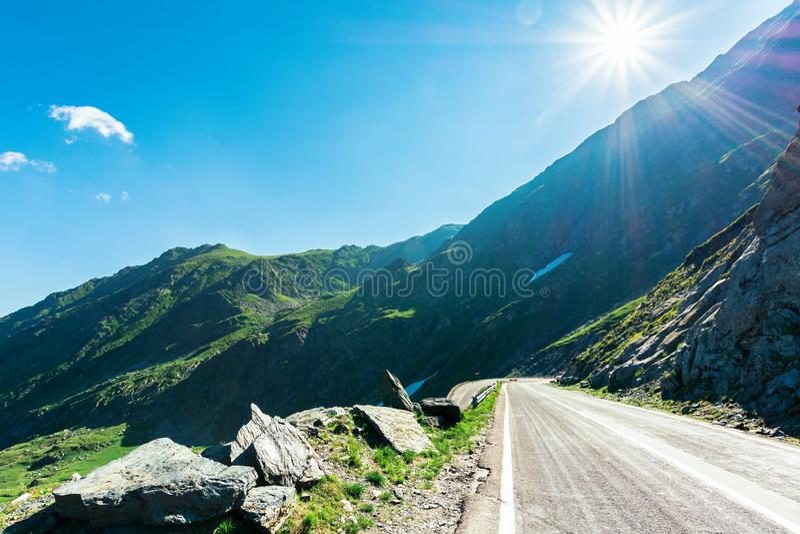 Transfagarasan road though mountains stock photography