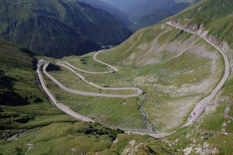 Transfagarasan road. Transfagarasan - the most famous road in Romania, built in 1974 stock photography