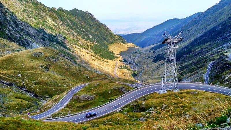 Transfagarasan Romania road in the mountains royalty free stock image
