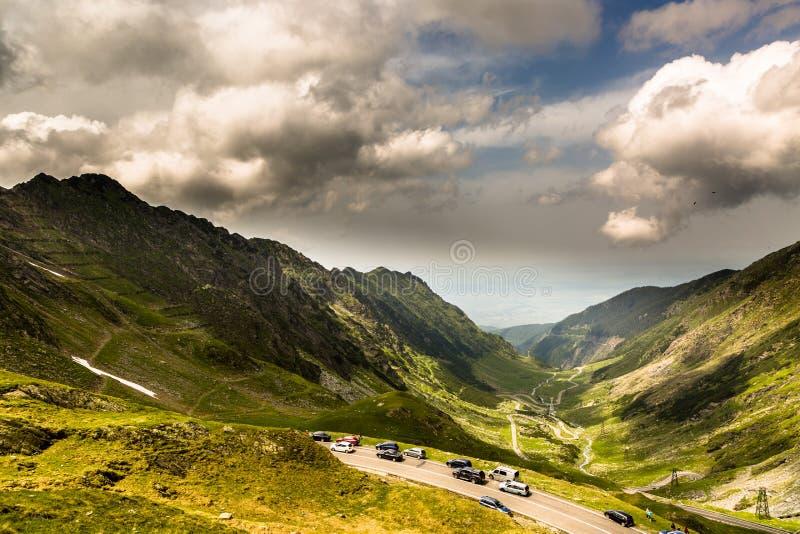 Transfagarasan Straße, Rumänien lizenzfreies stockbild