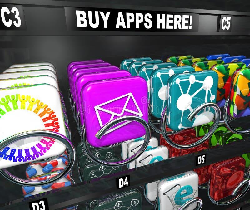Transferência da compra de Apps da compra da máquina de venda automática do App ilustração do vetor