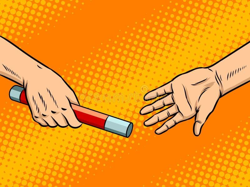 Transferência da ilustração do vetor do pop art do bastão ilustração do vetor