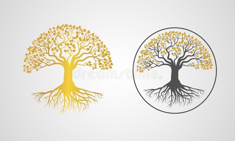 Transferência da imagem do vetor da árvore de Bodhi ilustração stock