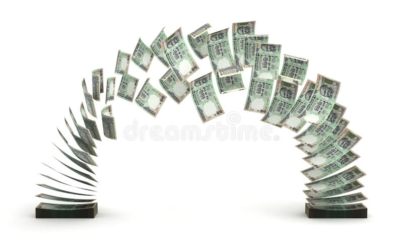 Transferência da rupia indiana ilustração stock