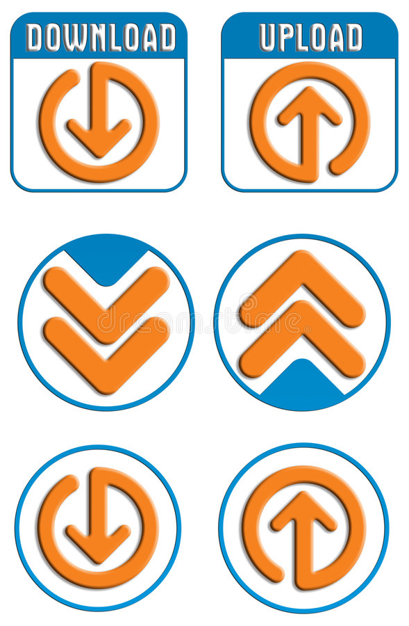 Transferência de arquivo pela rede, teclas da transferência de arquivo pela rede ilustração do vetor