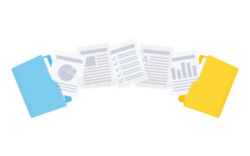 Transferência de arquivos Copie os arquivos, de intercâmbio de dados, backup ilustração do vetor