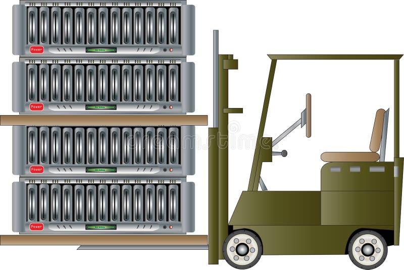 Transferência de dados ilustração do vetor
