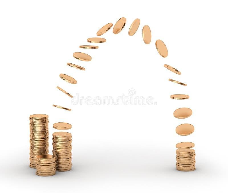 Transferência de dinheiro. ilustração royalty free