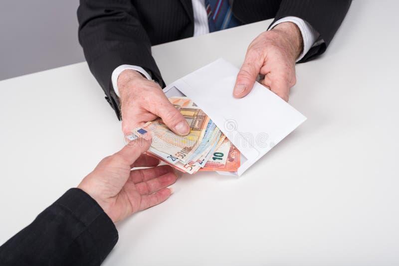Transferência de dinheiro fotografia de stock royalty free