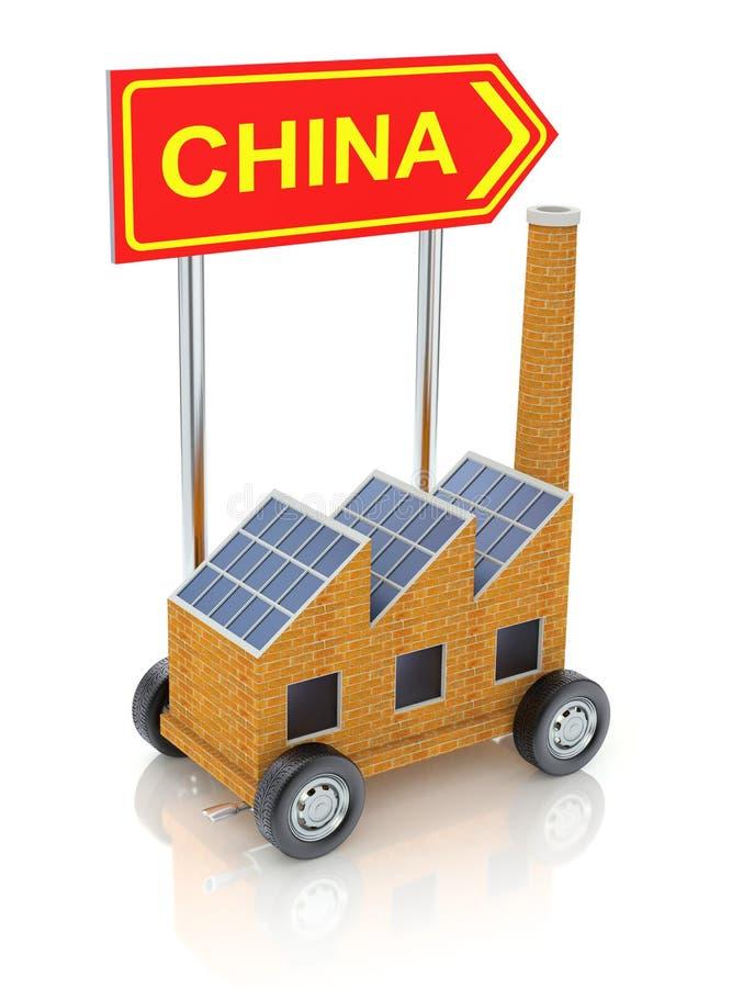 Transferência de fabricação a China ilustração stock