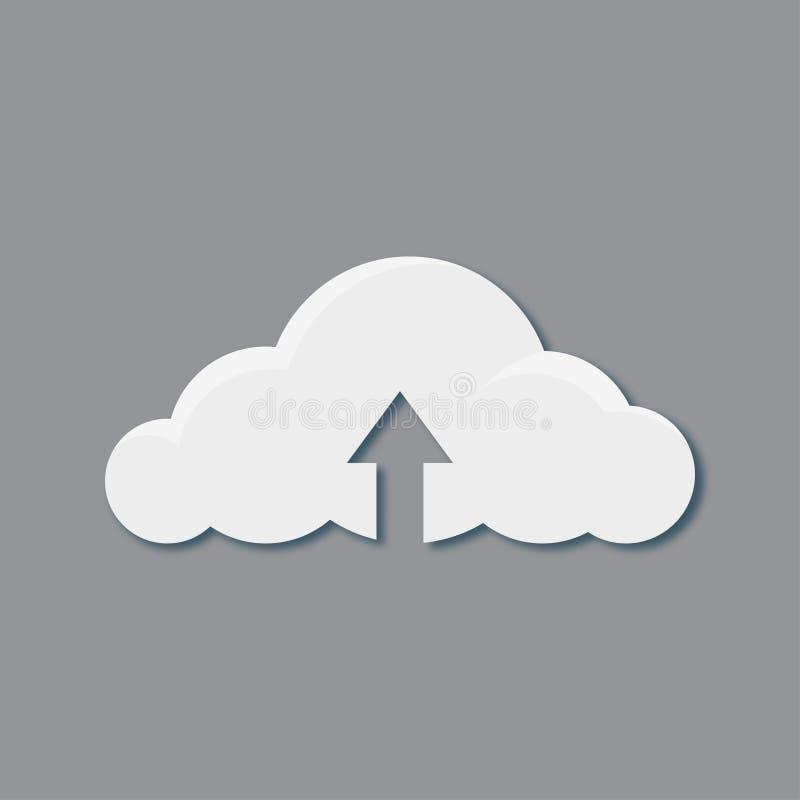 Transferência do ícone da nuvem, o melhor ícone liso do vetor, EPS ilustração royalty free