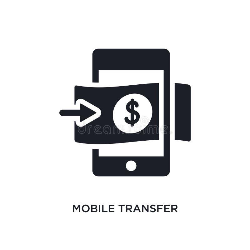 transferência móvel ícone isolado ilustração simples do elemento dos ícones do conceito dos métodos do pagamento sinal editável d ilustração royalty free