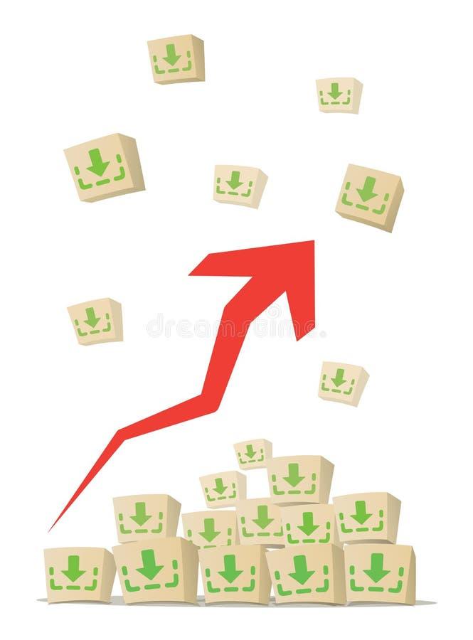 Transferências crescentes fotos de stock
