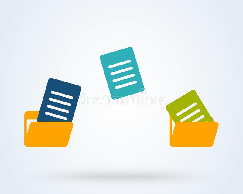 Transfer and copy Folder. Simple vector modern icon design illustration vector illustration