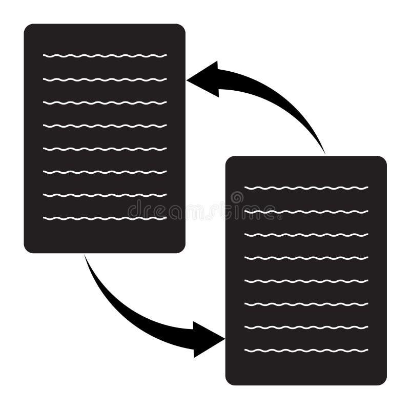 Transfer danych ikona na białym tle Mieszkanie styl transfer danych ikona dla twój strona internetowa projekta, logo, app, UI Poj ilustracja wektor