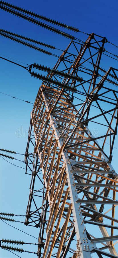 Download Transfer Electric Power On Distance Stock Image - Image: 4944557