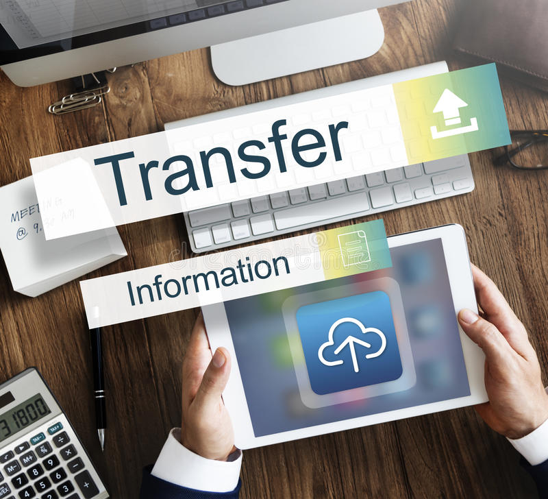 Transfer Information Internet Graph Concept royalty free stock photo