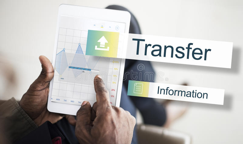 Transfer Information Internet Graph Concept stock photography