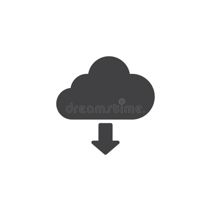 Transfer?ncia do ?cone do vetor da nuvem ilustração do vetor