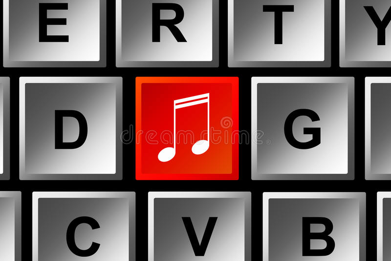 Transferencia directa de la música stock de ilustración