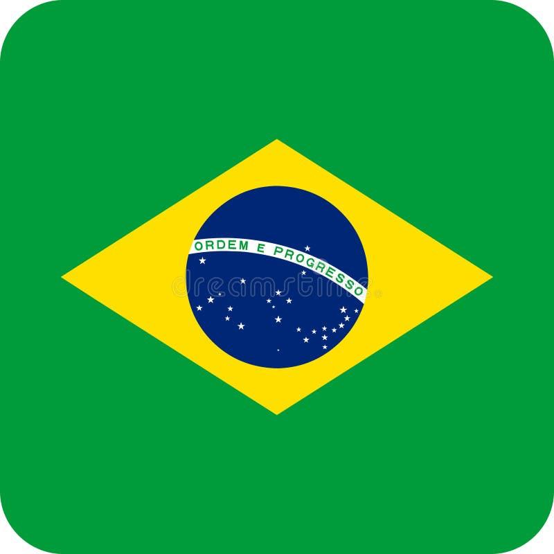 Transferencia directa EPS del vector del ejemplo del Brasil de la bandera ilustración del vector