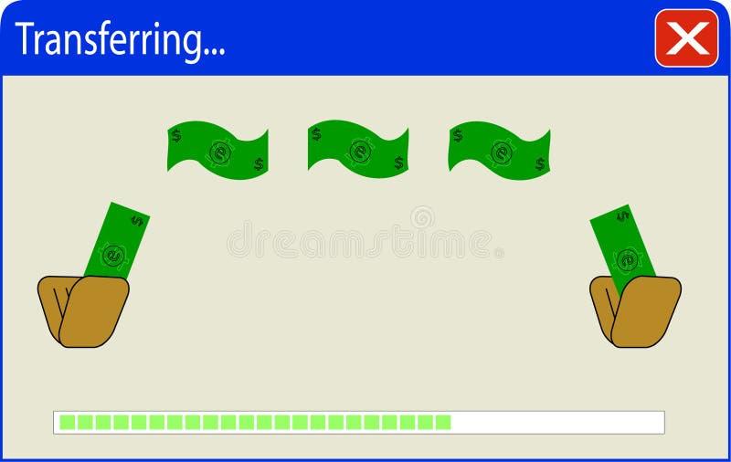 Transferencia monetaria ilustración del vector