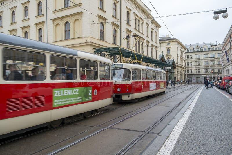 Transferencia pública en Praga, República Checa fotografía de archivo libre de regalías
