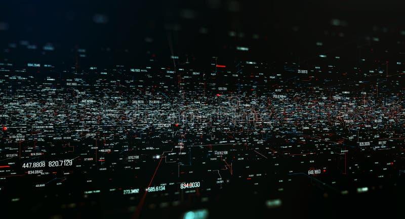 Transferencia y almacenamiento de los conjuntos de datos stock de ilustración