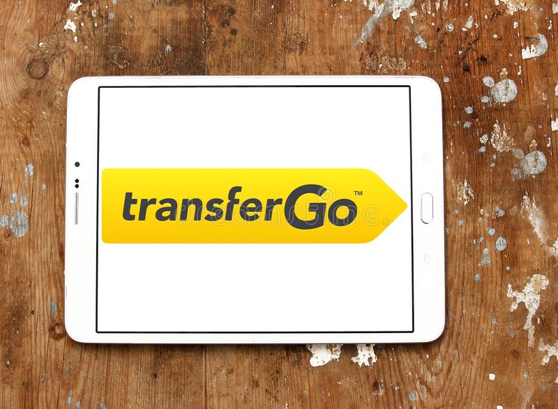 TransferGo-Firmenlogo lizenzfreie stockbilder