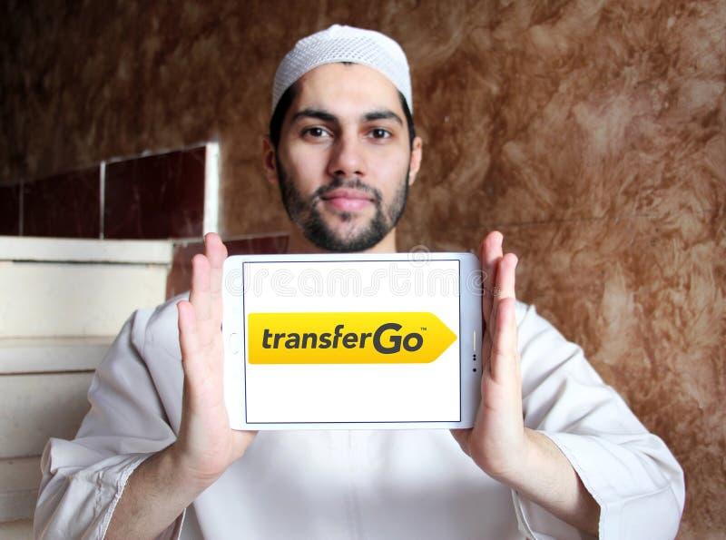 TransferGo-Firmenlogo lizenzfreie stockfotos