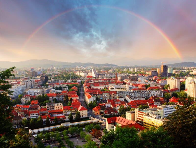 Transferrina, capitale della Slovenia immagine stock libera da diritti