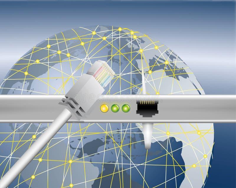 Transfert de données mondial illustration libre de droits