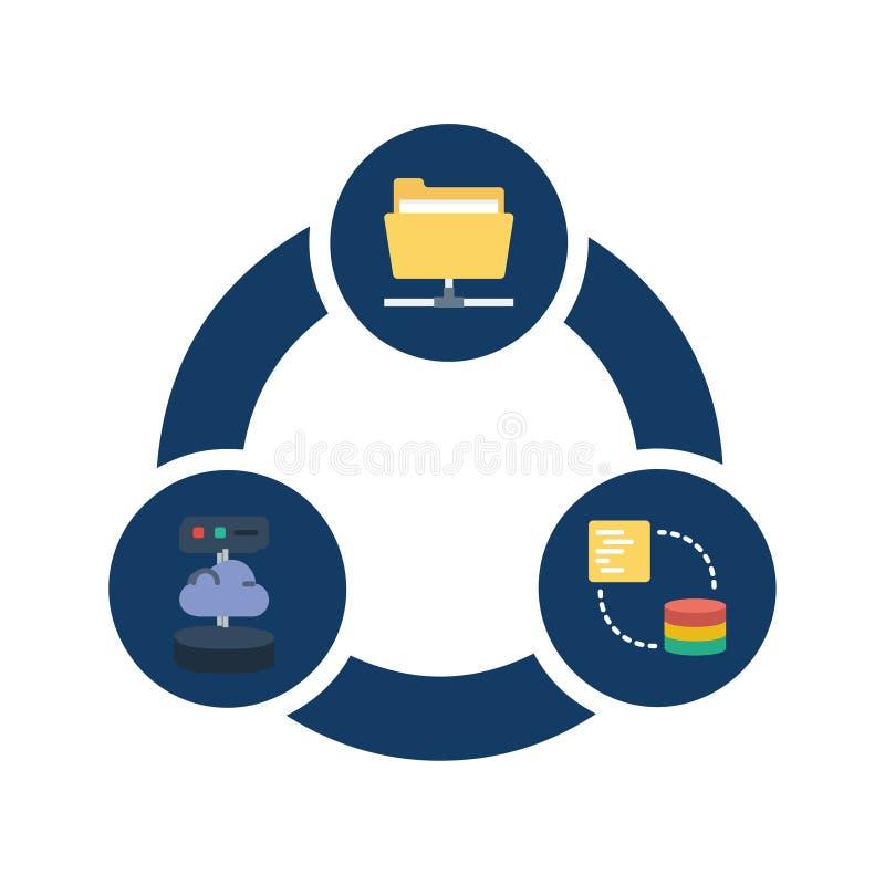 Transfert de fichier, icône mobile de vecteur illustration de vecteur