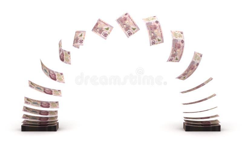 Transfert de pesos mexicains illustration de vecteur