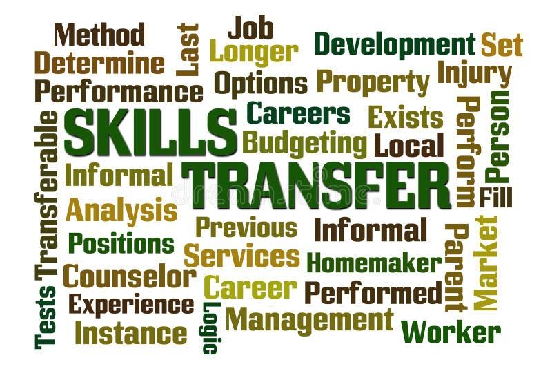 Transfert de qualifications illustration stock