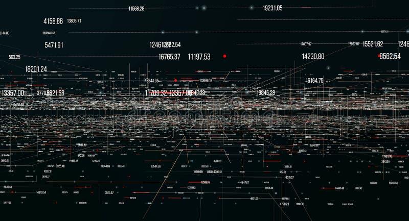 Transfert et stockage des ensembles de données illustration libre de droits