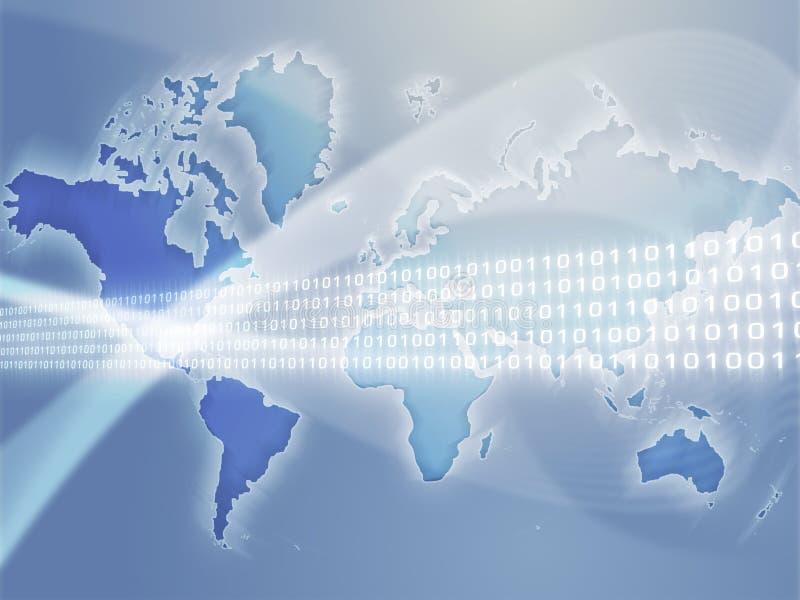 transfert global de données illustration de vecteur