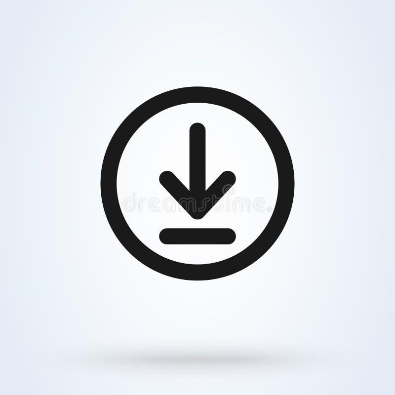 Transfiera e instale el ejemplo moderno del diseño del icono del vector simple ilustración del vector