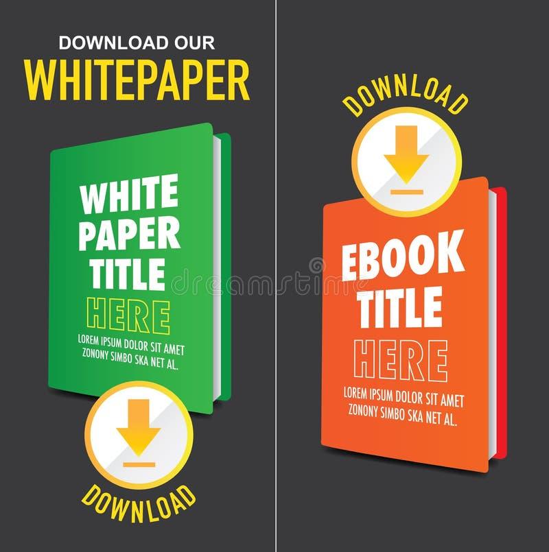 Transfiera el gráfico de Whitepaper o de Ebook con título reemplazable libre illustration
