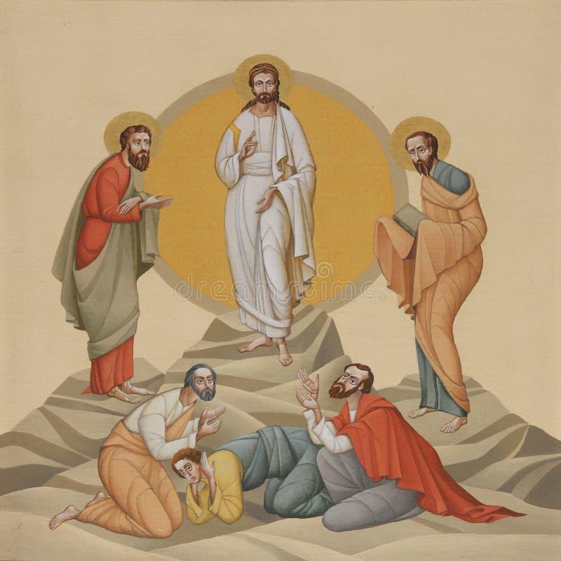 Transfiguratie stock foto